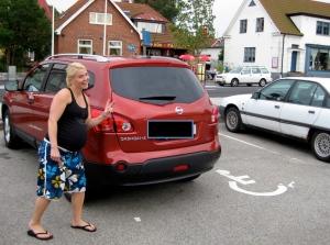 Det är jag och Sunes pappa Rudolf som är duktiga på att parkera