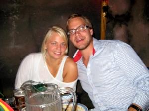 Vännen Holme med flickvän