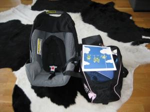 BB-väskan och babyskyddet till bilen