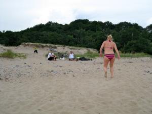 Att gå i sand var inte så skönt för gravvohöfterna...
