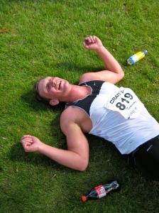 En trött men lycklig Christian efter målgång!