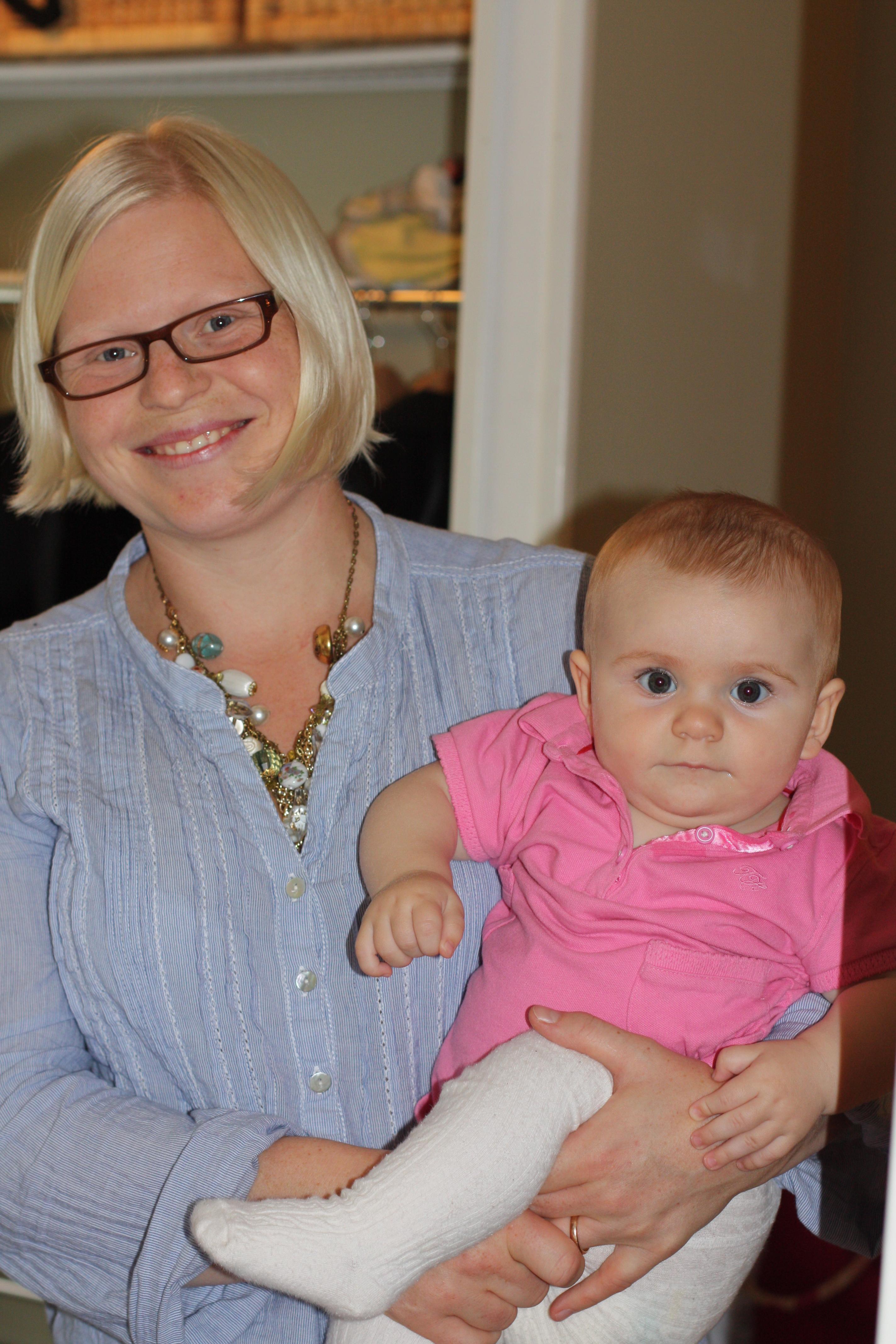 Min fina brorsdotter, Sixtens kusin, med sin vackra mamma Tove