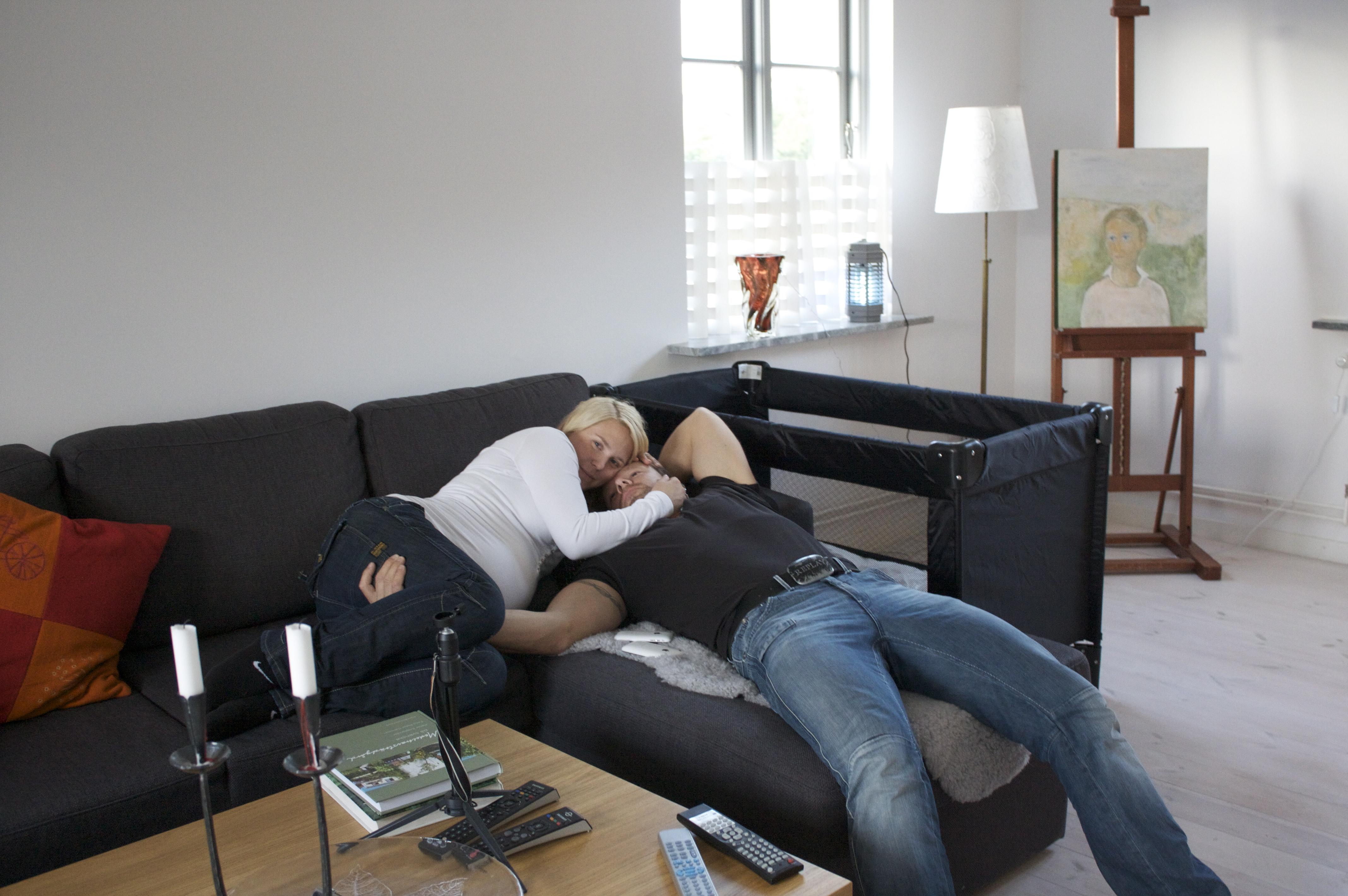 Vardagsrummet i Tommarp. Fotot är taget samma dag som Sixten skulle födas. Ni som missade magen...